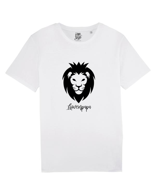 Löwenpapa Shirt in weiß