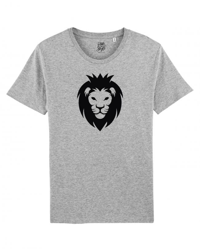 Herren T-Shirt Rundhals Löwenkopf