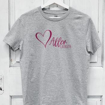 Damen Shirt Herzallerliebste - lässiges Valentinstags Geschenk für Muttis