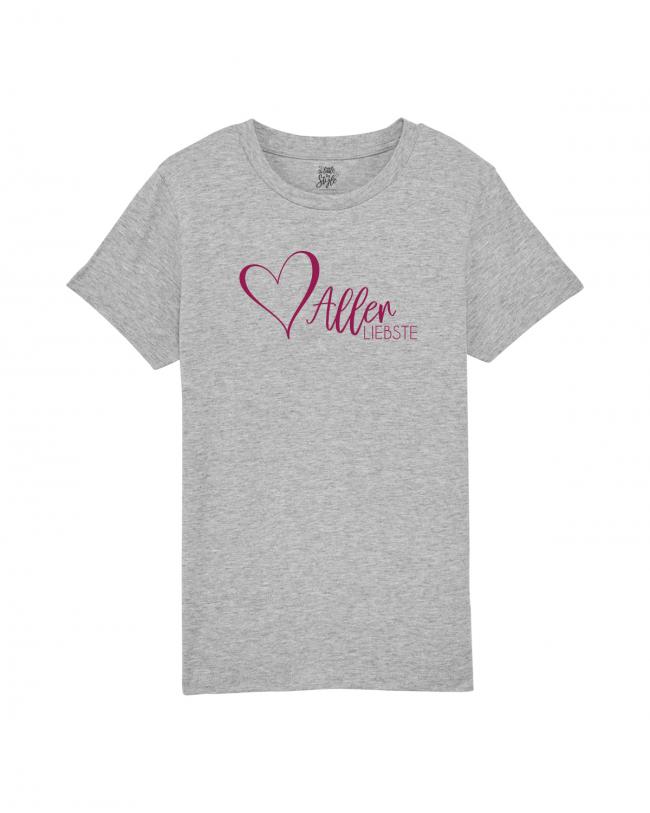 Kinder T-Shirt Herzallerliebste - trendiges Shirt für den Valentinstag