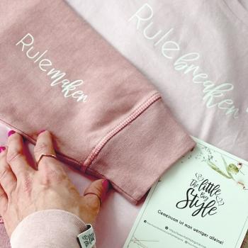 Mama Tochter Kombi - amen Swaeter und Mädchen Shirt in pink